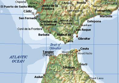 Cartina Spagna E Marocco.Tangeri Tangier Escursione Da Tarifa