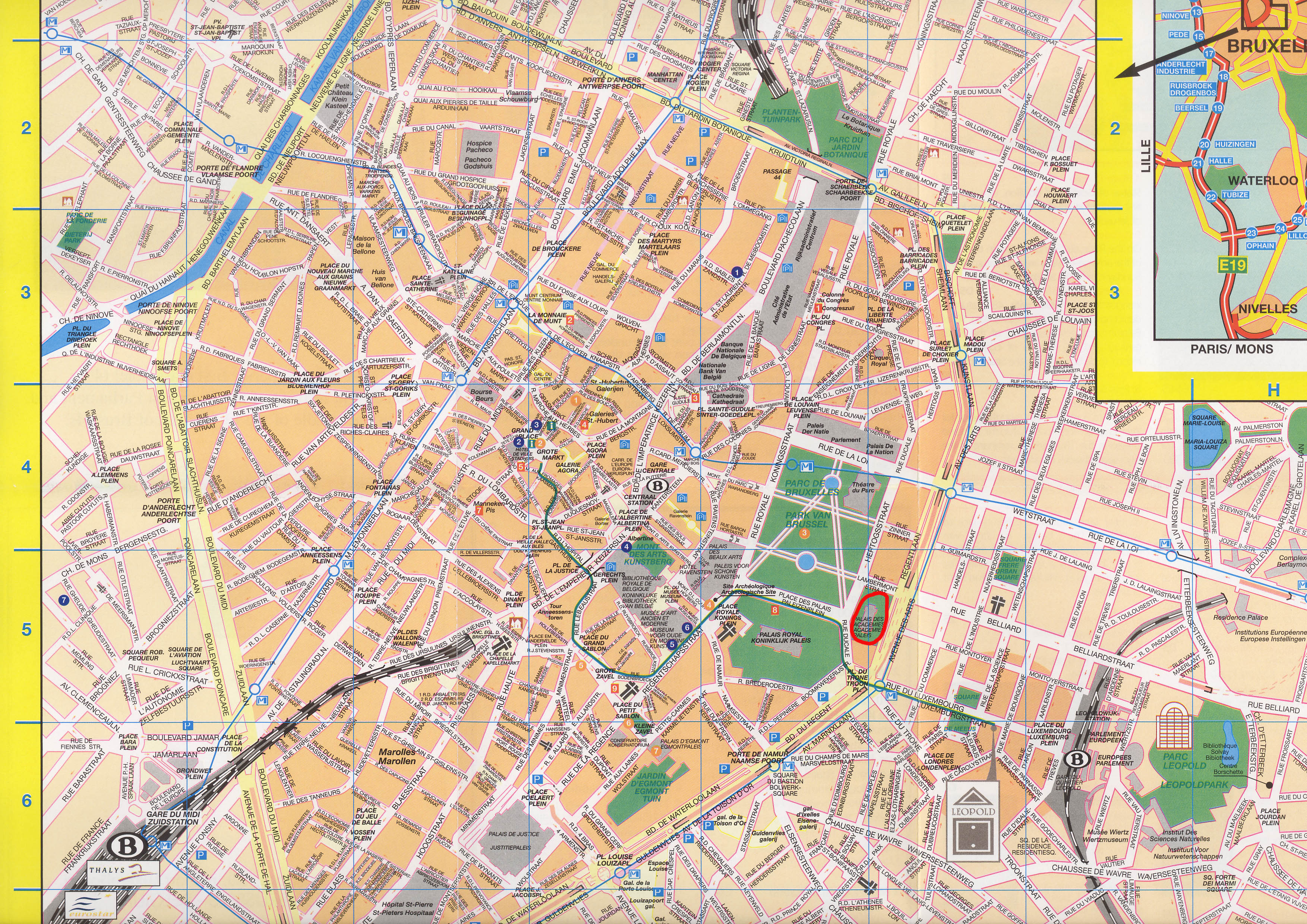 Maps of Brussels | Maps – Map of Subway, Metro Map, Map of Europe ...