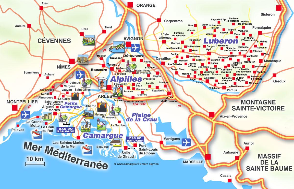 Mappa turistica - Office du tourisme st marie de la mer ...