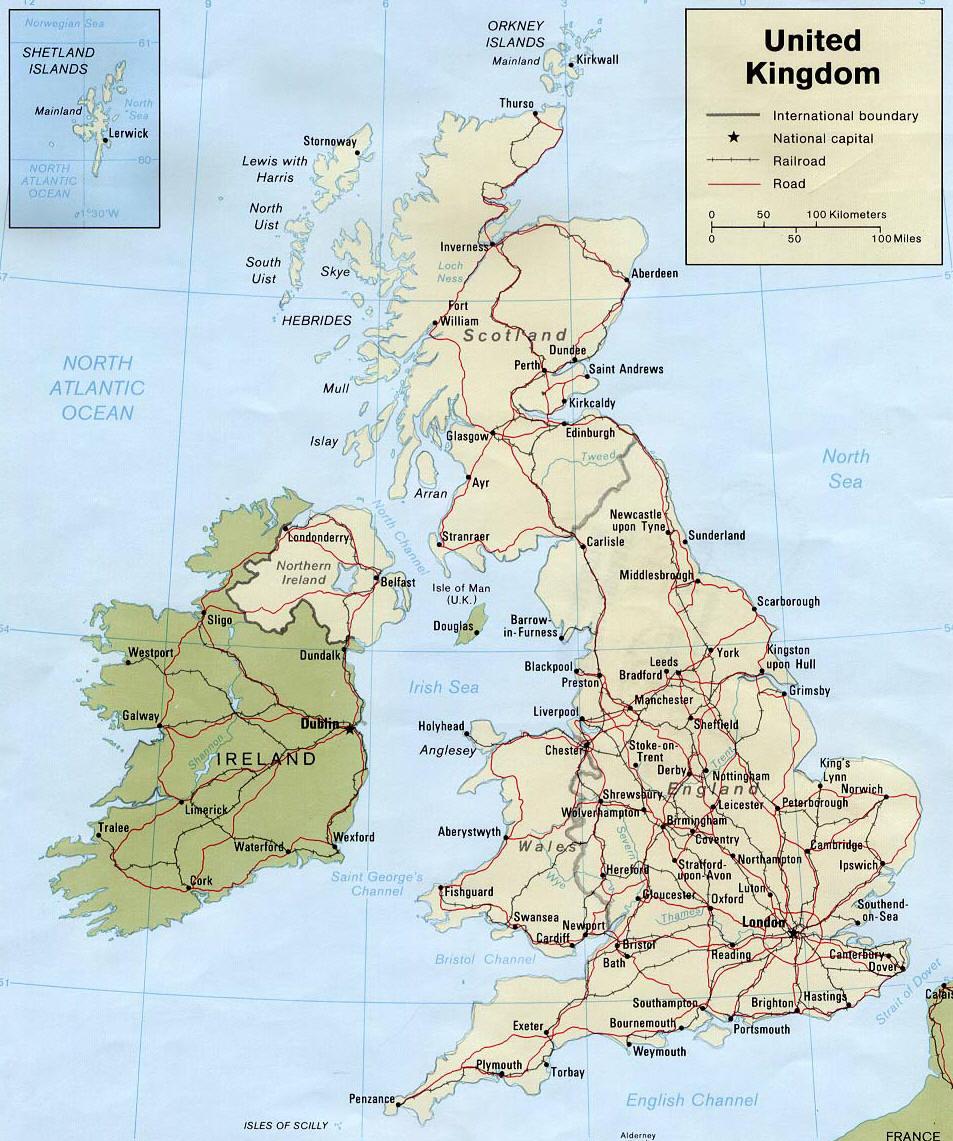 Mappa gran bretagna