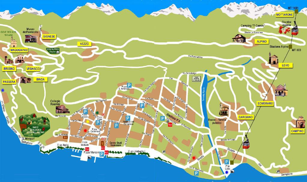 Stresa Lago Maggiore Cartina.Stresa